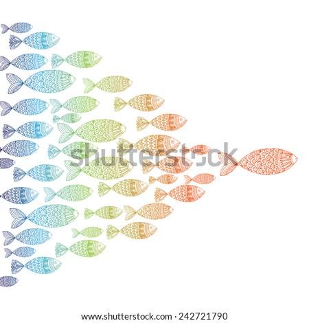 Fish Template | Fish Template Stock Vektorgrafik Lizenzfrei 242721790 Shutterstock