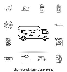 fish truck icon. fish production icons universal set for web and mobile