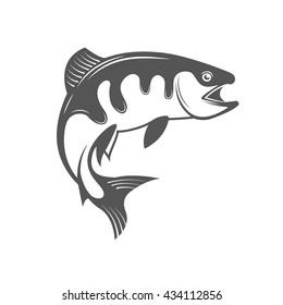 Fish vector design logo template.
