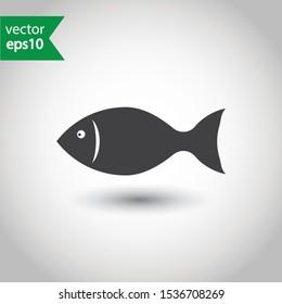 Fish vector icon. Fish flat sign design. EPS 10 fish pictogram