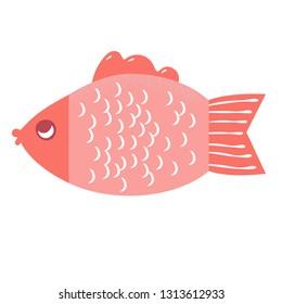 fish vector icon illustration
