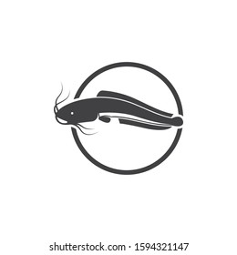 fish vector icon illustration design template