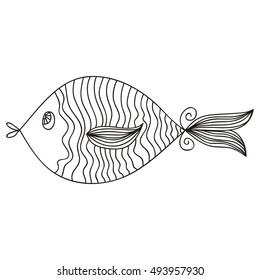 Fish. Vector illustration.