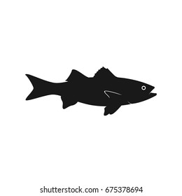 fish vector silhouette template  bass