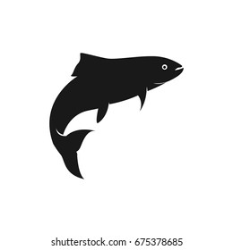 fish vector silhouette template salmon
