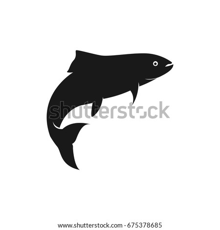 fish vector silhouette template salmon stock vector royalty free