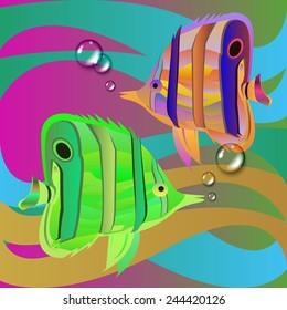 fish vector underwater sea ocean illustration marine