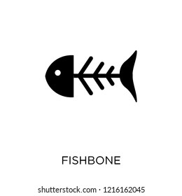 Fishbone icon. Fishbone symbol design from Museum collection. Simple element vector illustration on white background.