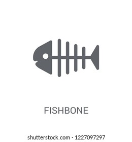 Fishbone icon. Trendy Fishbone logo concept on white background from Museum collection. Suitable for use on web apps, mobile apps and print media.