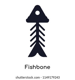 Fishbone icon vector isolated on white background for your web and mobile app design, Fishbone logo concept