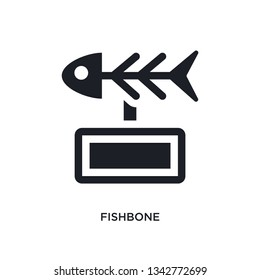 fishbone isolated icon. simple element illustration from museum concept icons. fishbone editable logo sign symbol design on white background. can be use for web and mobile