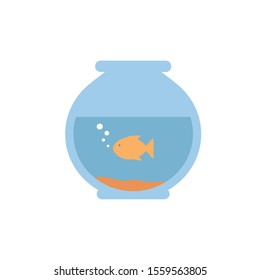 fishbowl icon design, Home house residential property traditional domestic household and interior theme Vector illustration
