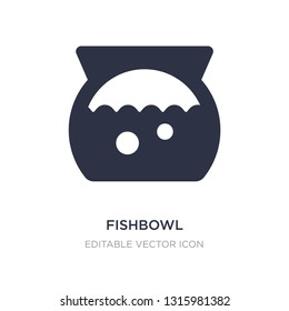 fishbowl icon on white background. Simple element illustration from Animals concept. fishbowl icon symbol design.