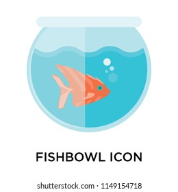 Fishbowl icon vector isolated on white background for your web and mobile app design, Fishbowl logo concept
