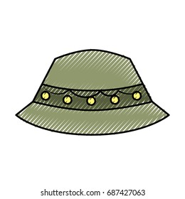 fisher hat isolated icon