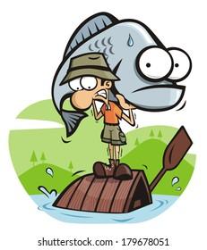 fishing cartoons images stock photos vectors shutterstock rh shutterstock com
