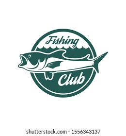 Fisherman or fish icon. Trout fishing. Fisherman with big fish.