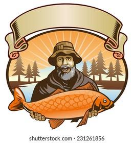 fisherman show his fish