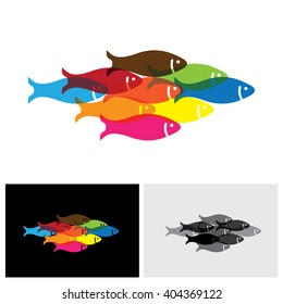 fishes vector logo icon in eps 10 format