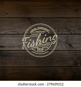 Fishing badges logos and labels for any use, on a white background