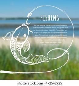 Fishing blurred photo background