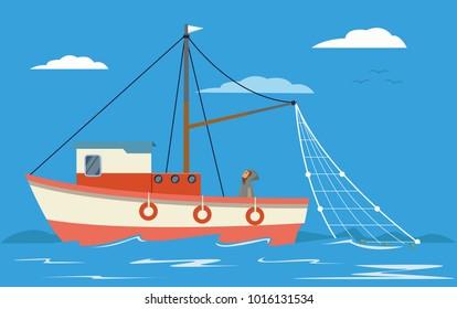 Fishing boat on sea