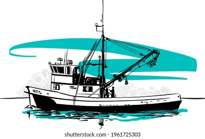 fishing boat on the water
