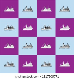 fishing boat vector.