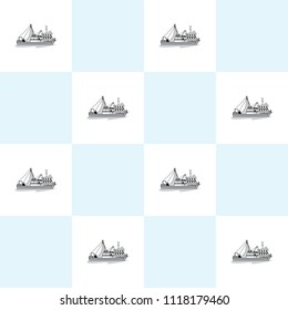 fishing boat vector.