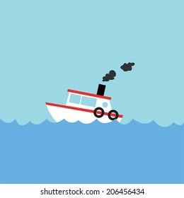 fishing boat. Vector illustration