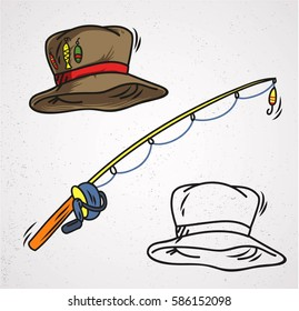 fishing cap isolated
