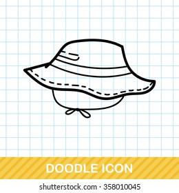 Fishing hat doodle