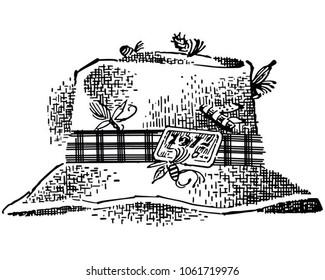 Fishing Hat - Retro Clip Art Illustration