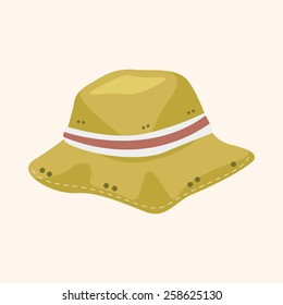 Fishing hat theme elements