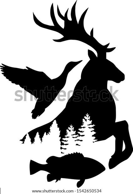 Free Tree Silhouette Vectors   Tree silhouette, Silhouette sketch, Silhouette  vector