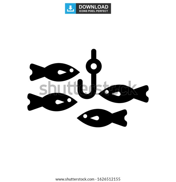 fishing icon or logo isolated sign symbol vector illustration - high quality black style vector icons