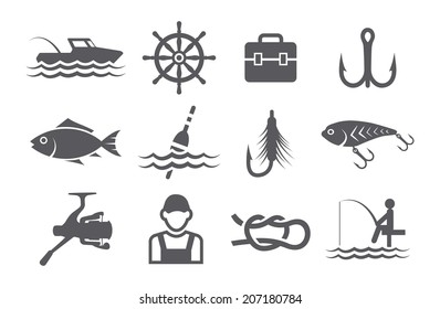 Fish Icon Images Stock Photos Vectors Shutterstock