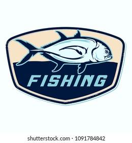 fishing illustration template for logo