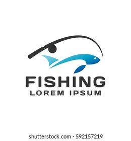 Fishing logo, fish logo, fish symbol, camp logo. Fishing emblem, label, badge, logos.