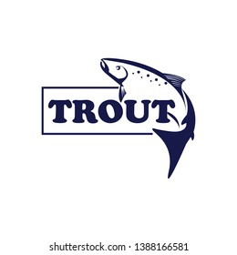 Fishing logo. Fish trout design template. Vector and illustrations.