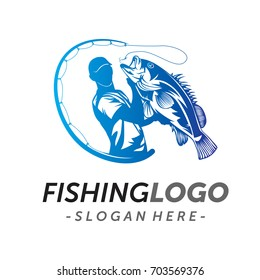 Fishing Logo Vector