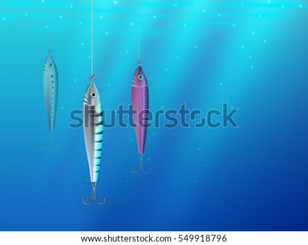Realistic hooks wallpaper for catching salmon, catfish, tuna, pike