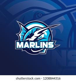 Fishing mascot logo vector illustration