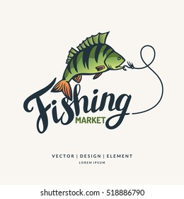 Fishing. Modern hand drawn lettering phrase. Calligraphy brush and ink. Handwritten inscriptions and quotes for layout and template. Vector illustration of text.