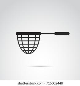 Fishing net icon isolated on white background.