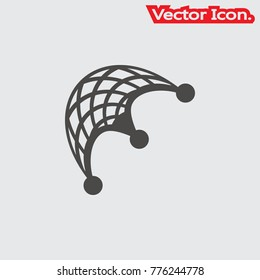Fishing net icon isolated sign symbol and flat style for app, web and digital design. Vector illustration.