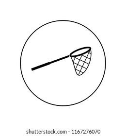 fishing net icon, logo