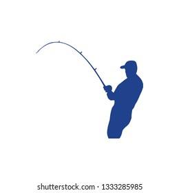 Fishing rod icon isolated on white background. Fishing rod icon simple sign. Fishing rod icon trendy and modern symbol for graphic and web design.