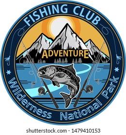 Fishing  Salmon. Mountain Lake Fishing