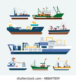 Fishing Ships and boats